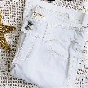 CAbi White Bootcut Jeans Size 6